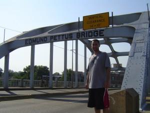 Crossing the Edmund Pettus Bridge