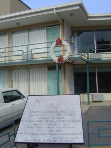 The balcony where Dr. King was assassinated