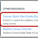 screenshot showing location of link in Canvas Help menu