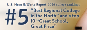 Messiah College holds place in 2016 rankings as the 5th Best Regional College in the Northeast US!