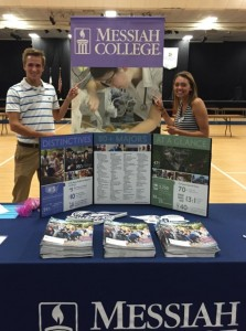 Devin Esch and Kenedy Kieffer at the Lancaster County Christian College Fair