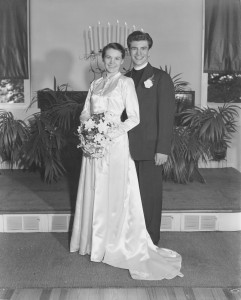 Ernie and Kay Boyer on their wedding day. -- ELB Center Archives