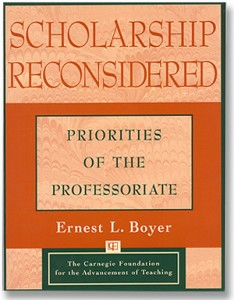 Scholarship Reconsidered, one of the seven major studies Boyer published during his career. (ACCP)