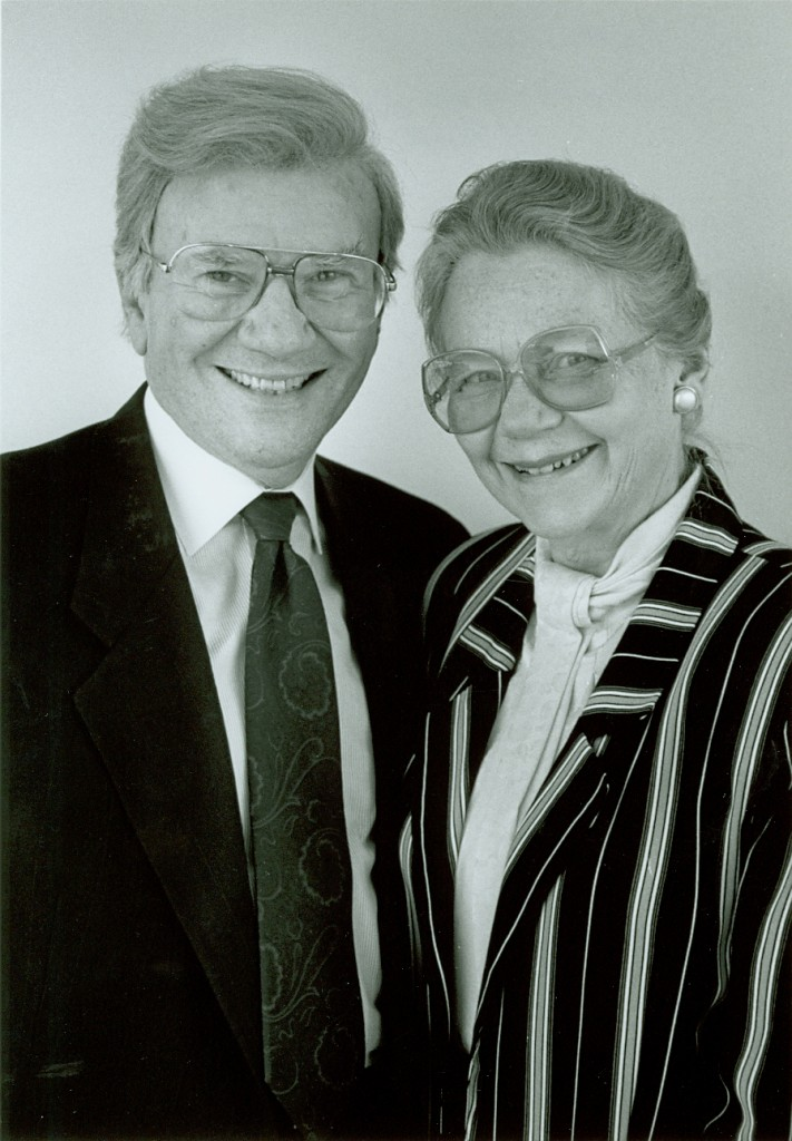 Photograph of Ernest L. and Kay Boyer taken at Butler University. - BCA