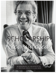 Scholarship Reconsidered interview page