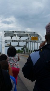 Retracing the march over the Edmund Pettus Bridge in Selma, AL