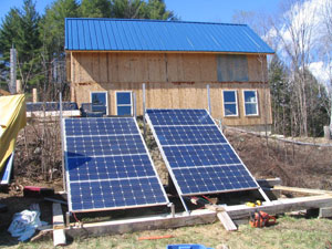 Solar panels installed at the Gustafson home