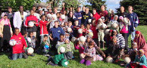 Messiah College soccer camp outreach