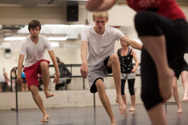 Students dance at Messiah College