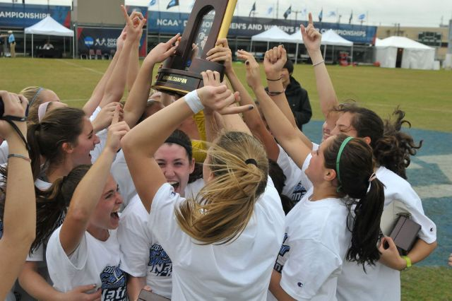 Messiah College women's soccer celebrates fourth national championship.