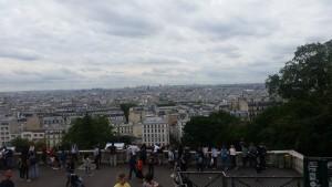 Sacre Coeur overlooking Paris