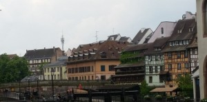 The smaller town feel of Strasbourg, a view from the Grand Ile, which circles the heart of the historic city